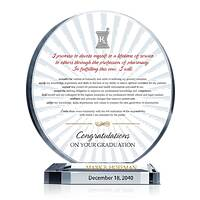 Oath of Pharmacist Graduation Gift Plaque