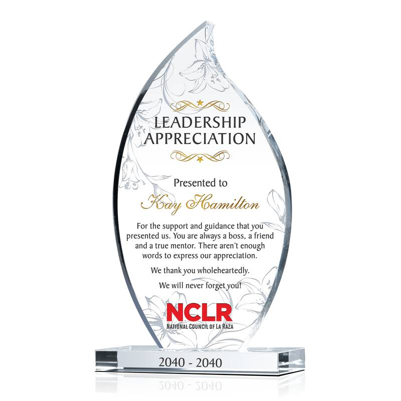 Crystal Flame Boss, Manager, Supervisor Farewell/Departing Gift Plaque