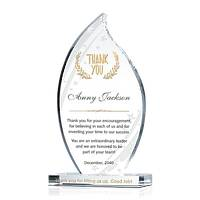 Crystal Flame Boss, Manager, Supervisor Thank You Gift Plaque