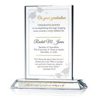 Custom Christian Graduation Gift with Jeremiah 29 Bible Verse