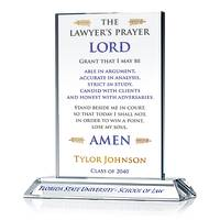Personalized Law School Graduation Gift with Lawyer's Prayer