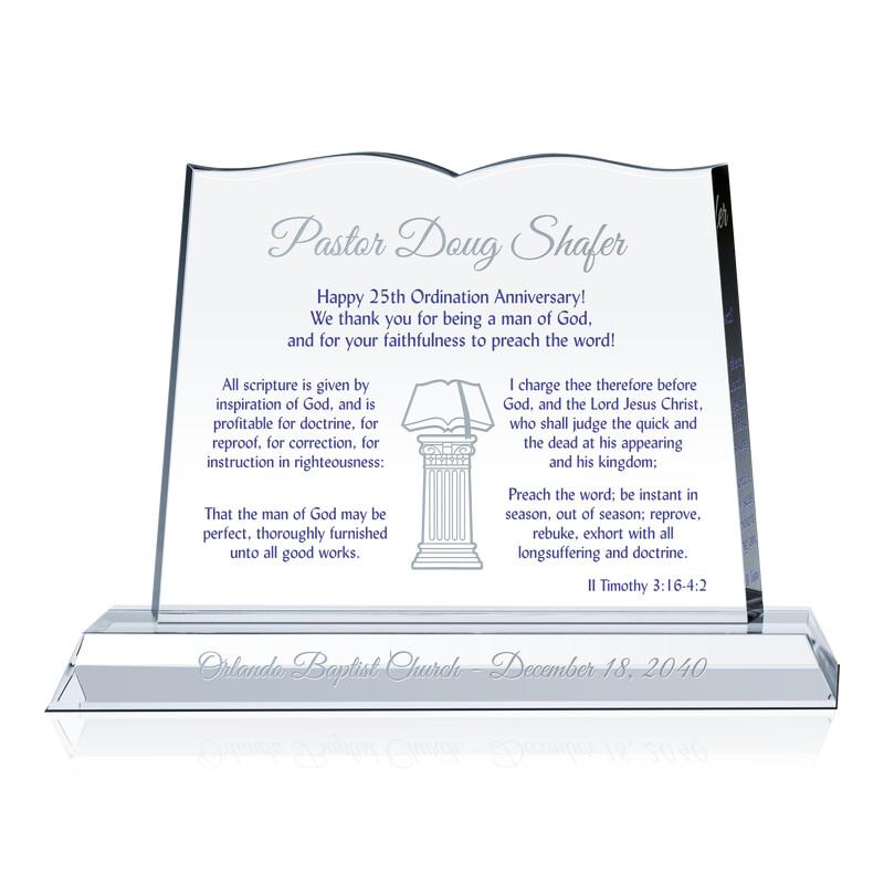 25th Ordination Anniversary Gift Plaque (#621-A)