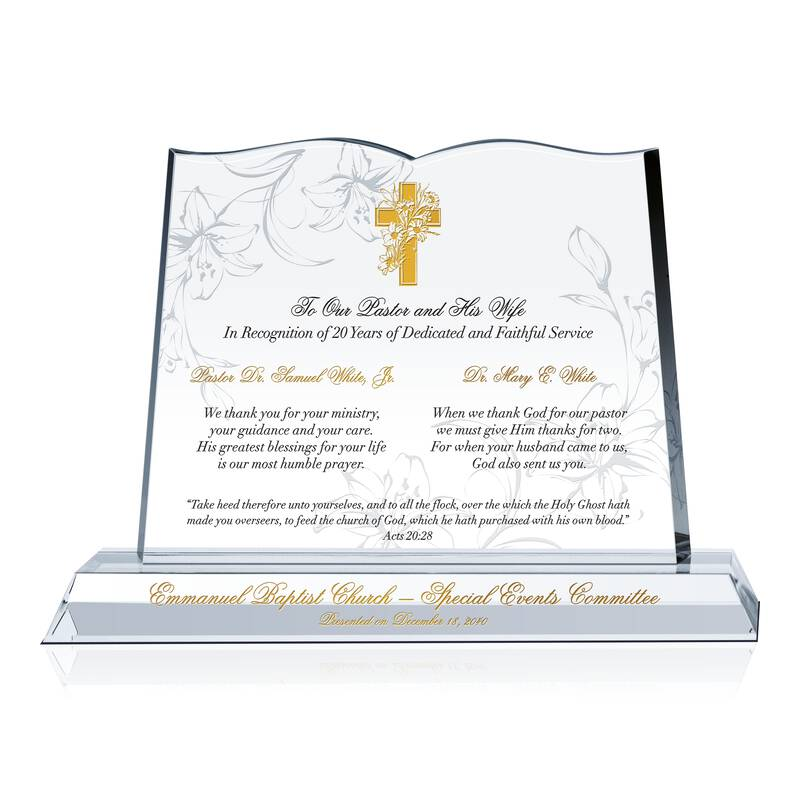 Pastor and Wife Anniversary Gift Idea