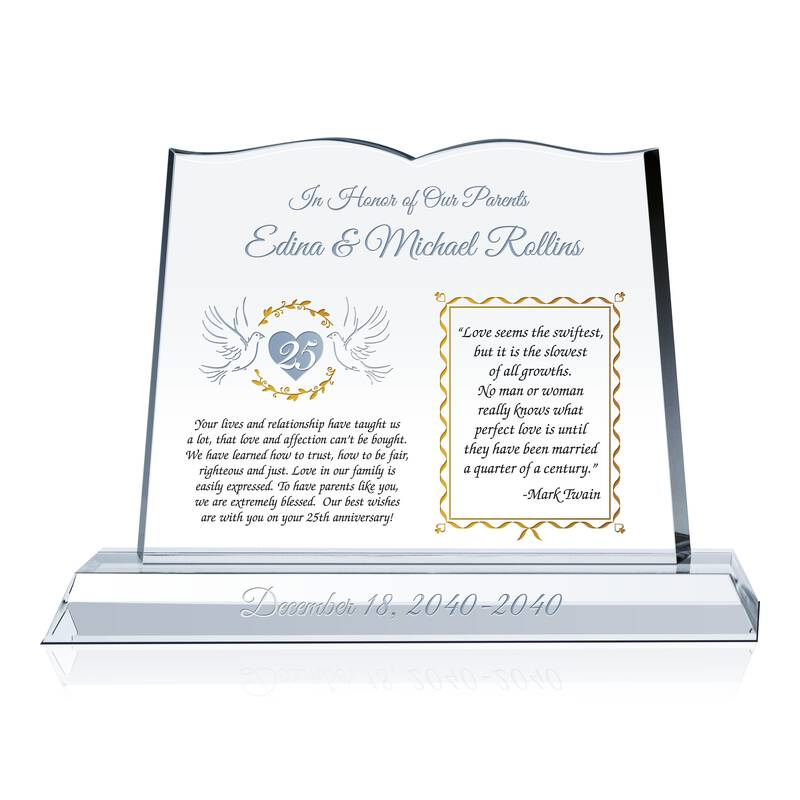 Sample Silver Annivsary Quotes to Parents