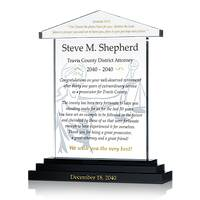District Attorney Retirement Gift Plaque