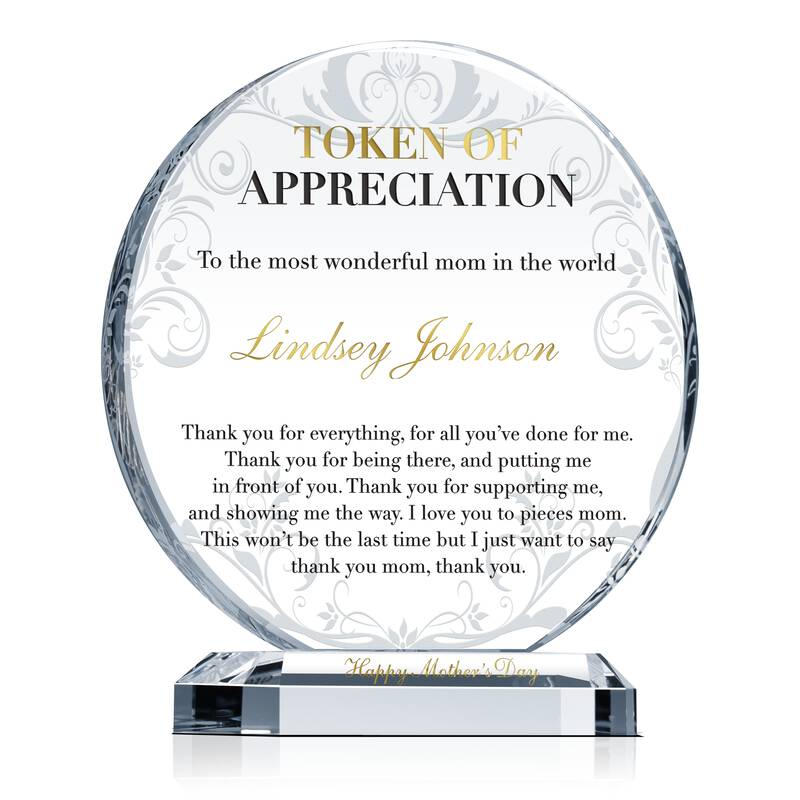 Best Mother Appreciation Gift Plaque