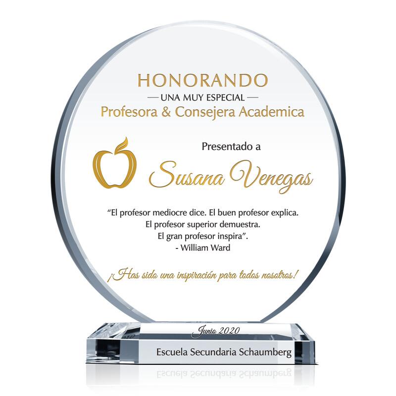 Premio Cicular de Apreciación Para Maestro, Principal, Superintendente, Consejero Escolar