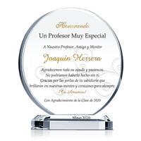 Premio Circular de Apreciación Para Maestro, Profesor, Mentor