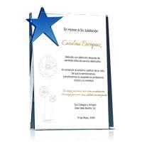 Estrella de Cristal Para Jubilación de Mujer