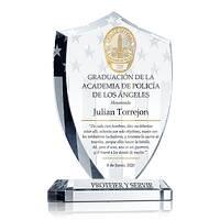 Placa de Premio de Graduación de la Academia de LAPD