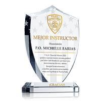 Placa de Regalo Para Instructores de la Academia de Policía