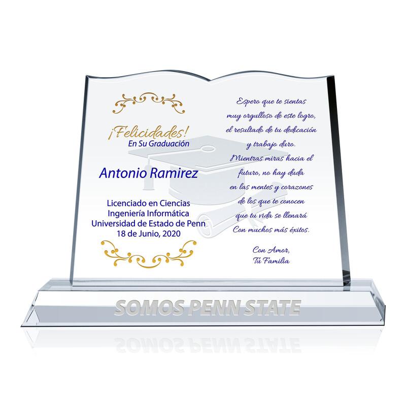 Placa de Graduación de Cristal de la Familia