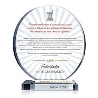 Placa de Regalo de Graduación del Juramento de Farmacéutico