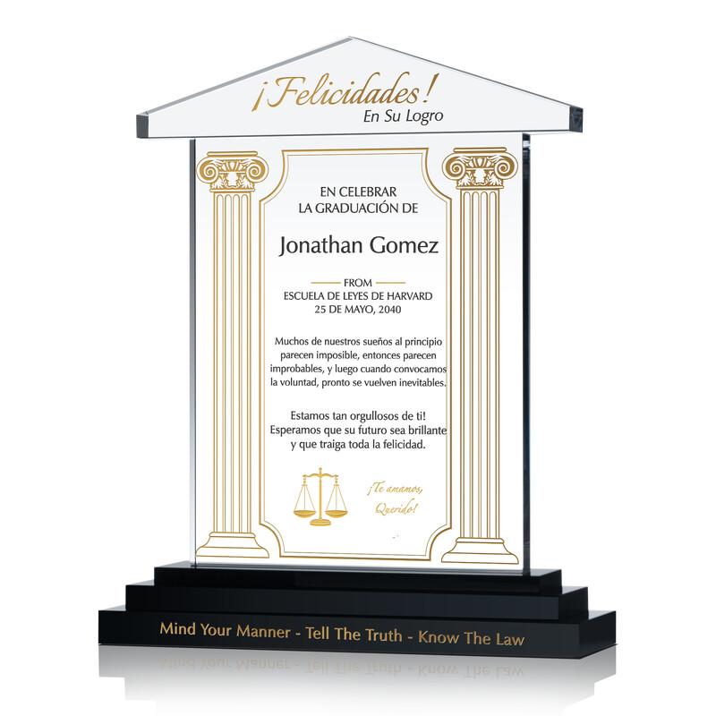 Regalo de Graduación de la Facultad de Derecho para el Esposo / Esposa