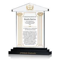 Placa de Regalo de Graduación con Credo de Abogado