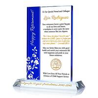Personalized Crystal Religious Retirement Gift Plaque