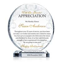 Employee Retirement Appreciation Gift Plaque