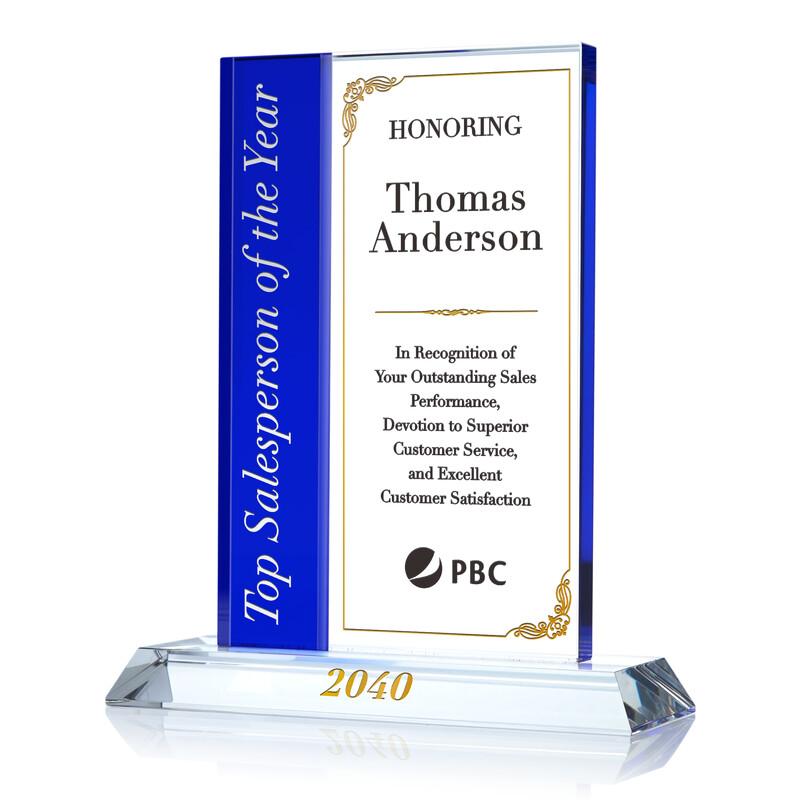 Top Salesperson Award Sample Ideas