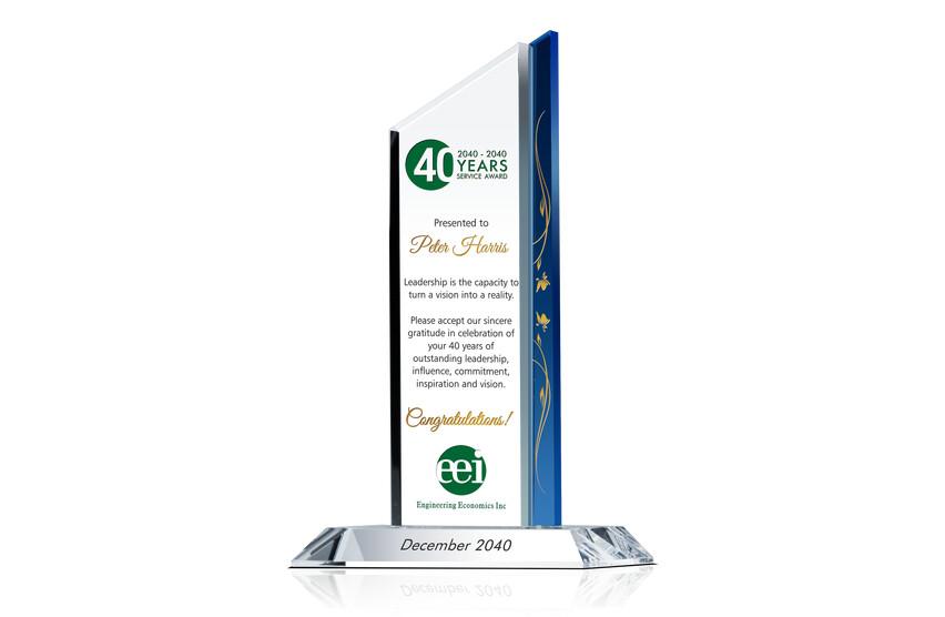 40 Year Long Service Award Sample
