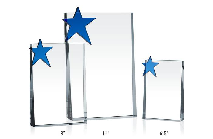Vertical Crystal Plaques