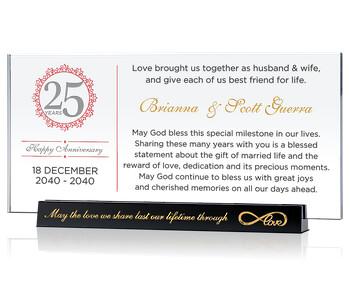 Custom 25th Wedding Anniversary Gift