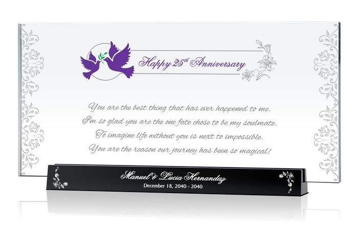 Personalized Christian 25th Wedding Anniversary Gift for Him or for Her