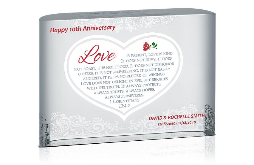 Happy 10th Anniversary Gift Plaque