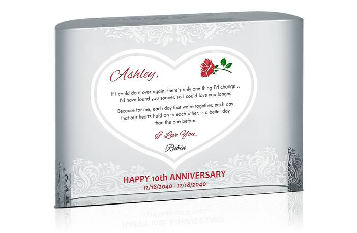 Romantic 10th Wedding Anniversary Message to Wife
