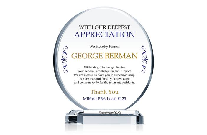 Sponsor & Donor Appreciation Gift Plaque