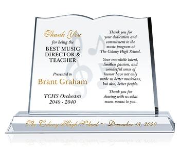 Book Appreciation Gift Plaques
