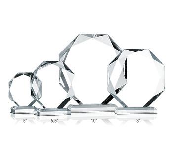Crystal Octagon Award Plaques