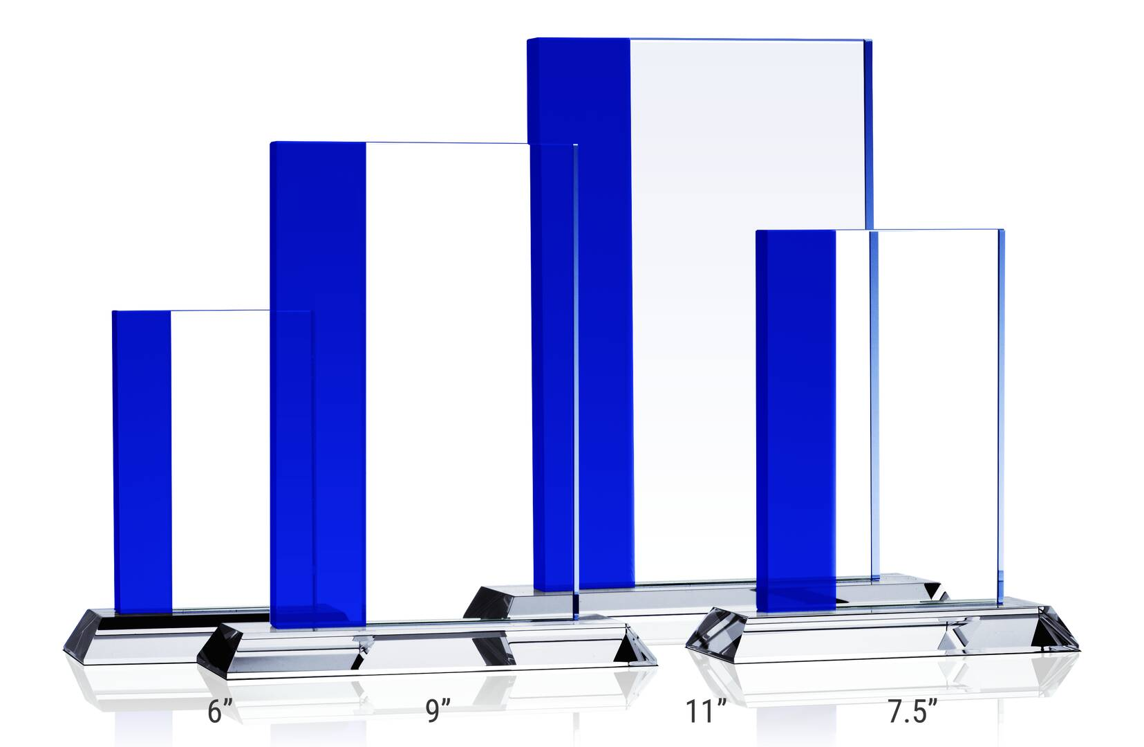 Crystal Rectangle Award Plaques