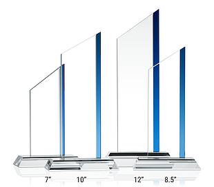 Crystal Pinnacle Award Plaques