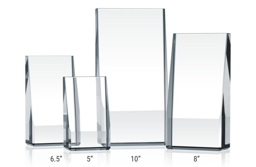 Crystal Wedge Award Plaques