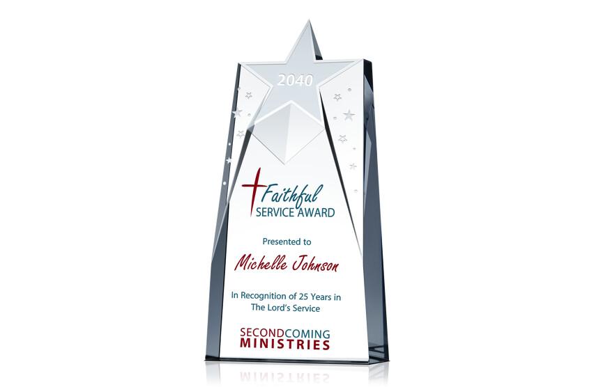 Christian Pastor Award Plaque