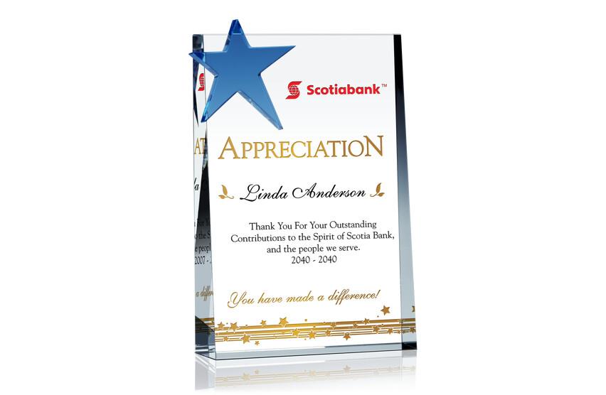 Star Service Appreciation Plaque