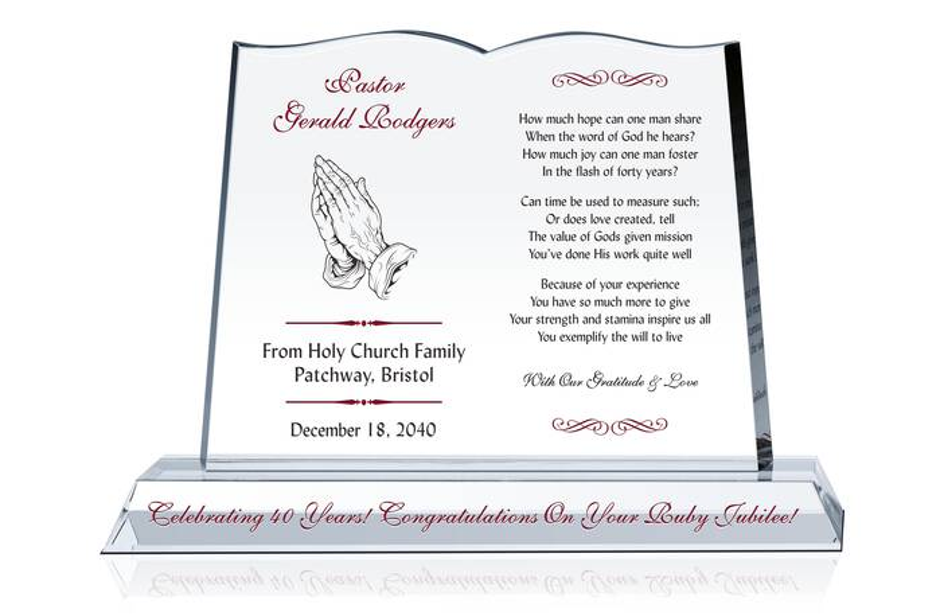 Celebrating Pastor's Ruby Jubilee Anniversary