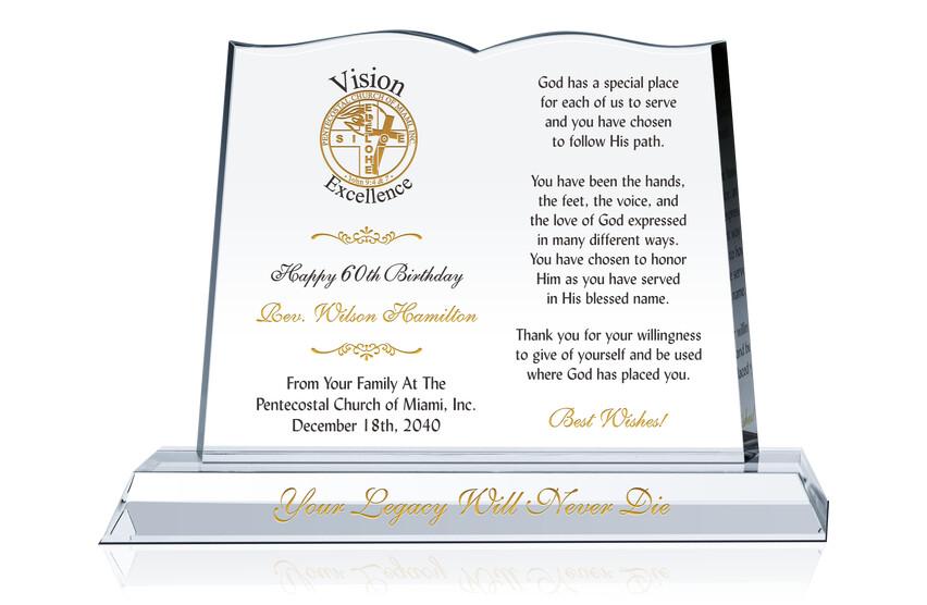 Reverend's Birthday Gift Plaque