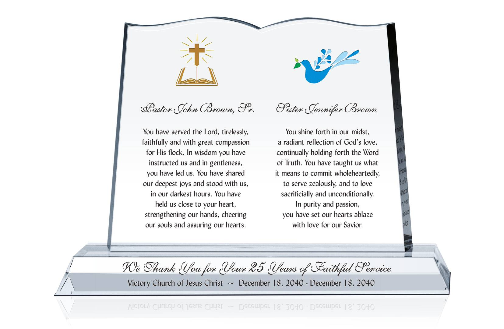 Pastor & Wife Tribute