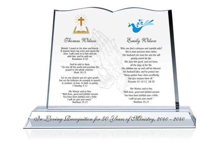 Crystal Bible for Pastor and His Wife