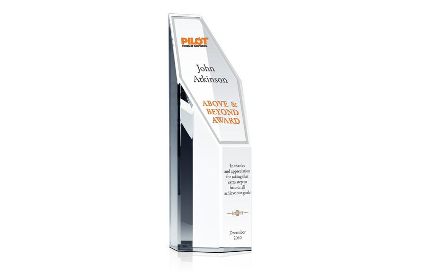 Custom Crystal Above & Beyond Award Tower