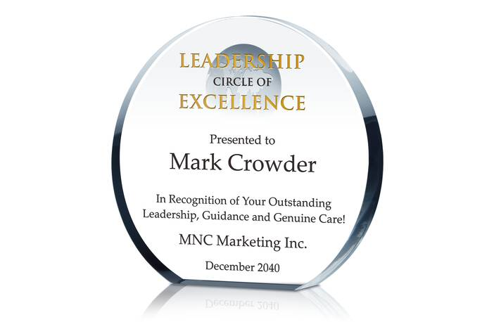 Crystal Globe Leadership Circle of Excellence Award