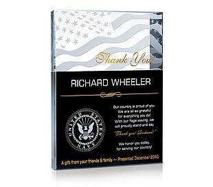 Thank You Military! Plaques