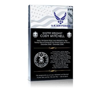Military Retirement Plaques