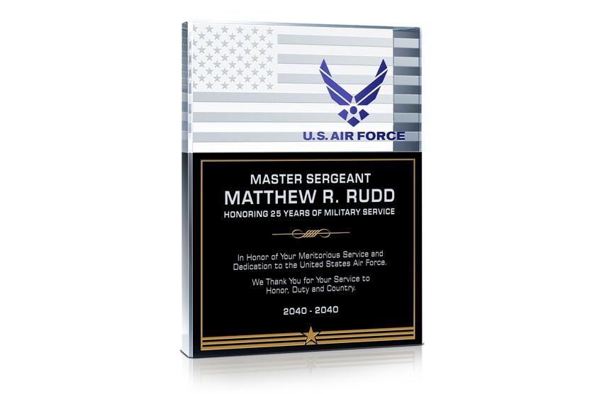 USAF Service Recognition Gift Plaque