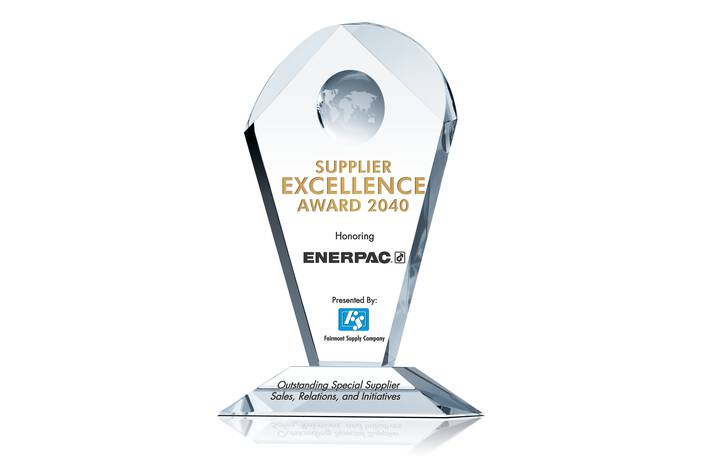 Crystal Supplier Excellence Award Trophy