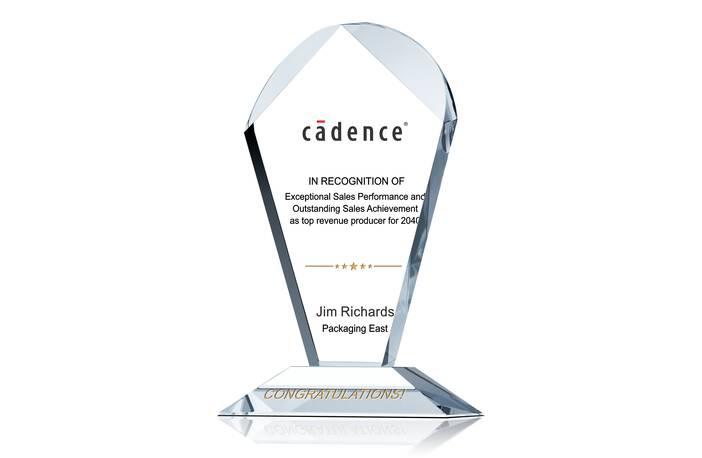 Crystal Geodesic Top Revenue Producer Award Trophy