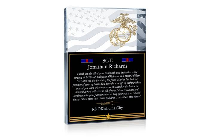 Thank You Gift for Marine Service