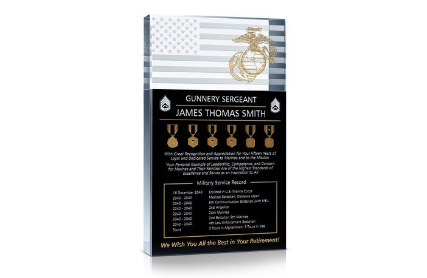 Marine Corps Service Retirement Gift