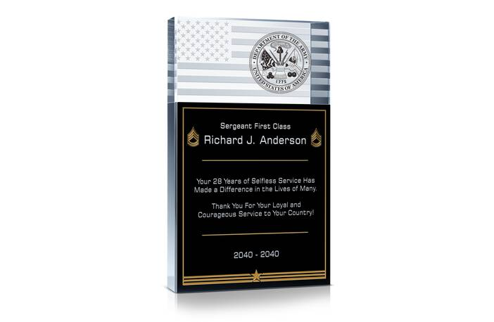 Army Service Recognition Wording #1